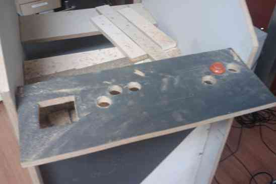 Holes for the fire-buttons and joysticks